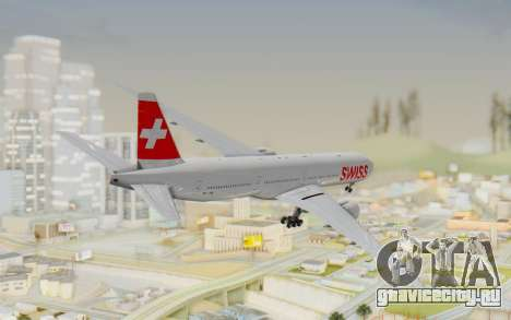 Boeing 777-300ER Swiss Global Air Lines для GTA San Andreas вид слева