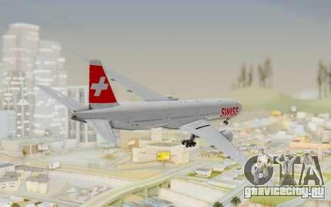 Boeing 777-300ER Swiss Global Air Lines для GTA San Andreas вид слева