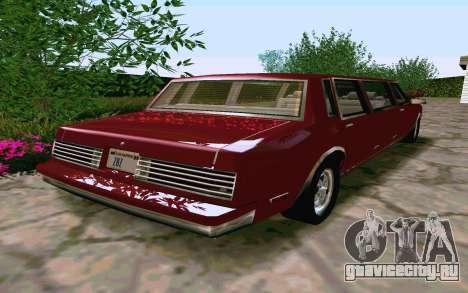 Tahoma Limousine v2.0 (HD) для GTA San Andreas вид справа