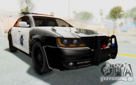 ASYM Desanne XT Pursuit v2 для GTA San Andreas вид справа