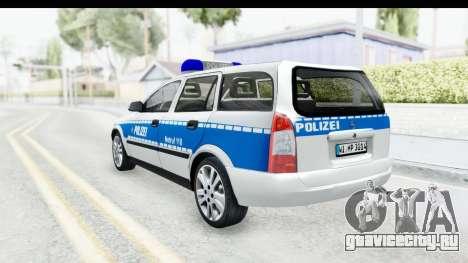 Opel Astra G Variant Polizei Hessen для GTA San Andreas вид слева