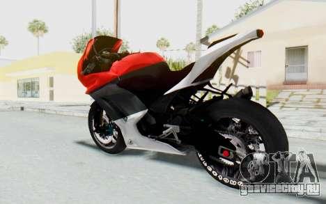 Kawasaki Ninja 250R Superbike для GTA San Andreas вид слева