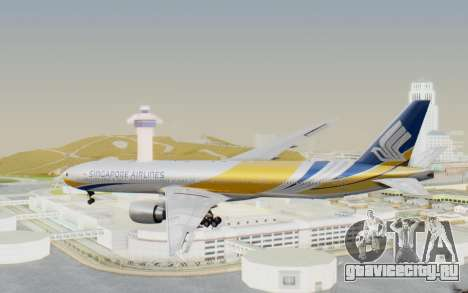 Boeing 777-300ER Singapore Airlines v2 для GTA San Andreas вид справа