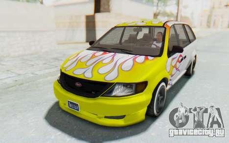 GTA 5 Vapid Minivan Custom для GTA San Andreas двигатель