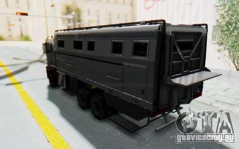 GTA 5 HVY Brickade IVF для GTA San Andreas вид сзади слева