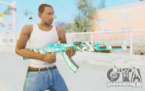CS:GO - AK-47 Front Side Misty для GTA San Andreas третий скриншот