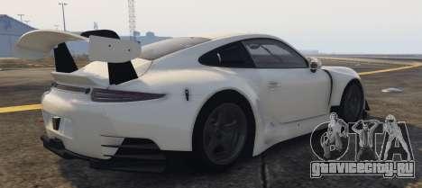 Porsche RUF RGT-8 GT3 для GTA 5 вид слева
