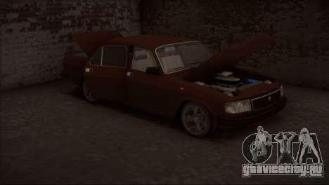 ГАЗ 31029 V8 для GTA San Andreas вид изнутри