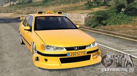 Taxi Peugeot 406 для GTA 5