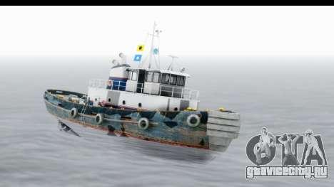 GTA 5 Buckingham Tug Boat v2 IVF для GTA San Andreas вид сзади слева