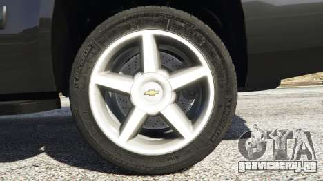 Chevrolet Tahoe для GTA 5 вид сзади справа