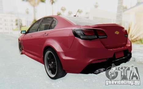 Chevrolet Super Sport 2014 для GTA San Andreas вид сзади слева