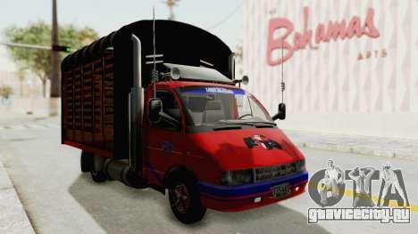 ГАЗель 33021 Stylo Colombia для GTA San Andreas вид справа