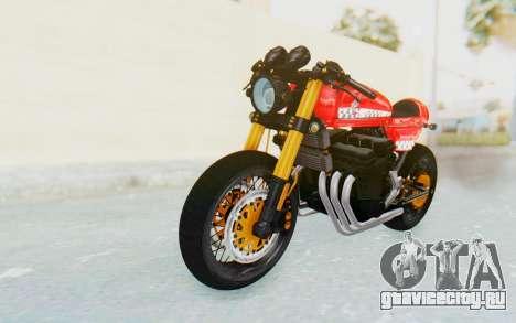 Honda CB750 Moge Cafe Racer для GTA San Andreas вид сзади слева