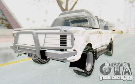 Ikco Super Peykan Pickup для GTA San Andreas вид сзади слева