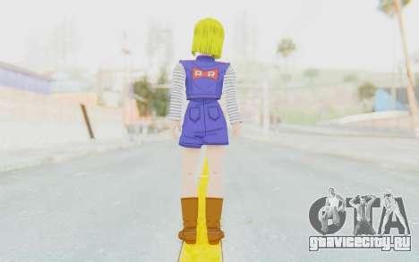 Dragon Ball Xenoverse Android 18 Showing Legs для GTA San Andreas третий скриншот