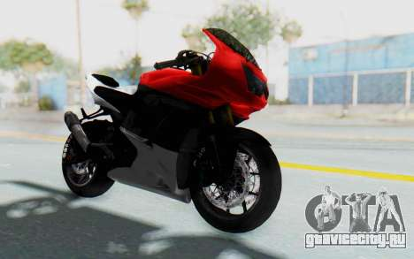 Kawasaki Ninja 250R Superbike для GTA San Andreas вид справа