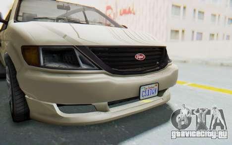 GTA 5 Vapid Minivan IVF для GTA San Andreas вид изнутри