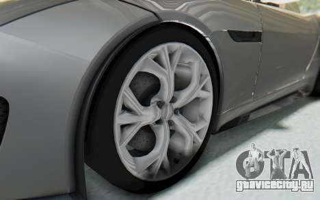 Jaguar F-Type Project 7 для GTA San Andreas вид сзади