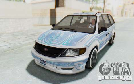 GTA 5 Vapid Minivan Custom для GTA San Andreas вид сбоку