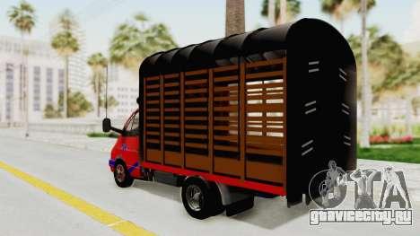 ГАЗель 33021 Stylo Colombia для GTA San Andreas вид слева