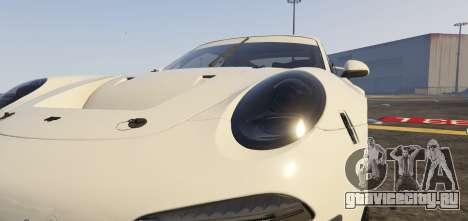 Porsche RUF RGT-8 GT3 для GTA 5 вид сзади