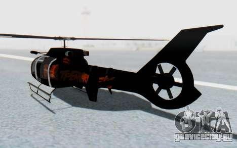 GTA 5 Maibatsu Frogger FIB IVF для GTA San Andreas вид слева