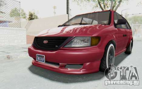 GTA 5 Vapid Minivan Custom without Hydro для GTA San Andreas вид справа