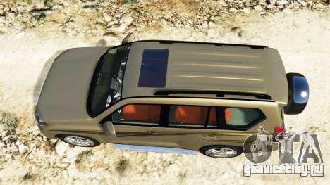 Toyota Land Cruiser Prado 2012 для GTA 5 вид сзади