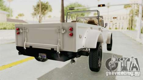 GTA 5 Canis Bodhi для GTA San Andreas вид слева