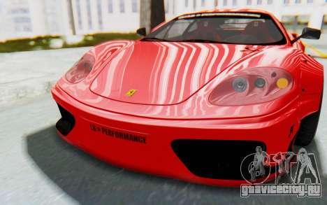 Ferrari 360 Modena Liberty Walk LB Perfomance v2 для GTA San Andreas вид изнутри