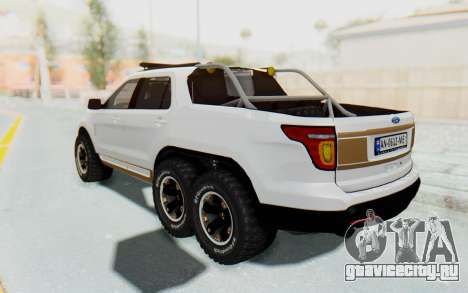 Ford Explorer Pickup для GTA San Andreas вид сзади слева
