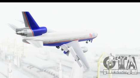 DC-10 Fly Us для GTA San Andreas вид справа