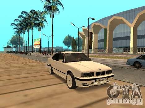 BMW E34 - EK edition для GTA San Andreas вид слева