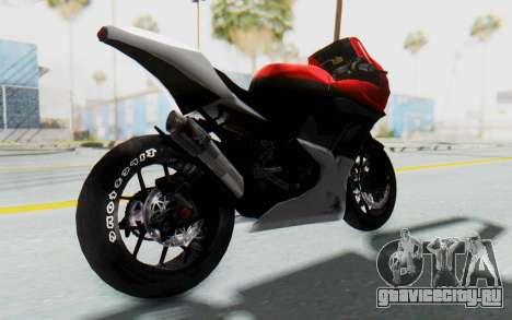 Kawasaki Ninja 250R Superbike для GTA San Andreas вид сзади слева