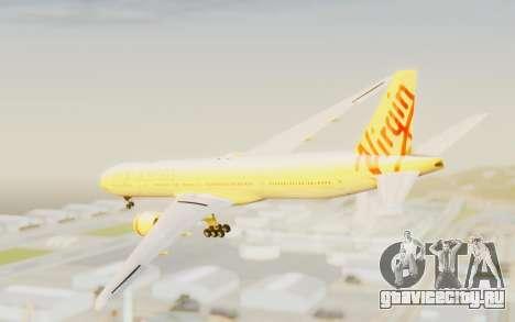 Boeing 777-300ER Virgin Australia v2 для GTA San Andreas вид слева