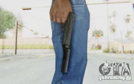 Tariq Iraqi Pistol Back v1 Black Silenced для GTA San Andreas третий скриншот