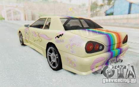 Elegy MLP Fluttershy PJ для GTA San Andreas вид слева