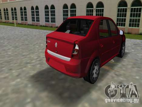 Renault Logan для GTA Vice City вид слева