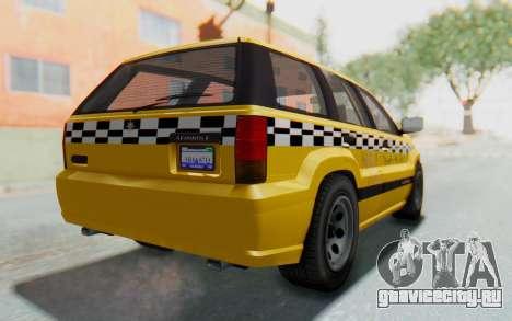 Canis Seminole Taxi для GTA San Andreas вид слева