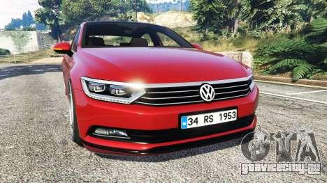 Volkswagen Passat Highline B8 2016 Stanced для GTA 5