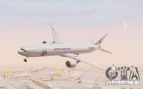 Boeing 777-300ER Japan Airlines v1 для GTA San Andreas вид сзади слева