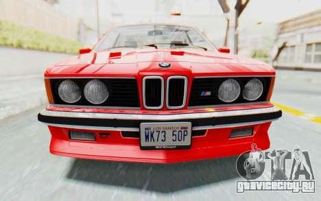 BMW M635 CSi (E24) 1984 IVF PJ2 для GTA San Andreas вид изнутри