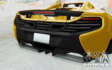 McLaren 650S Spyder ZenWorks для GTA San Andreas вид сверху