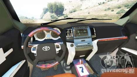 Toyota Land Cruiser Prado 2012 для GTA 5 вид сзади справа