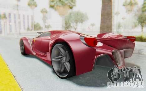 Ferrari F80 Concept для GTA San Andreas вид слева