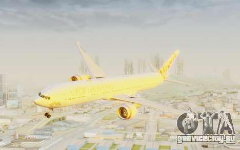Boeing 777-300ER Virgin Australia v2 для GTA San Andreas вид сзади слева