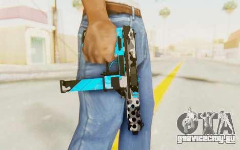 Tec-9 Neural Blue для GTA San Andreas третий скриншот