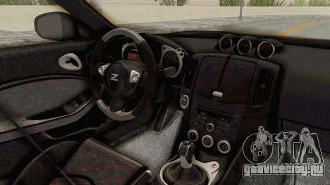 Nissan 370Z Nismo Z34 для GTA San Andreas вид изнутри