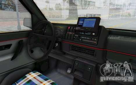 Volkswagen Golf Mk2 Lemon для GTA San Andreas вид изнутри